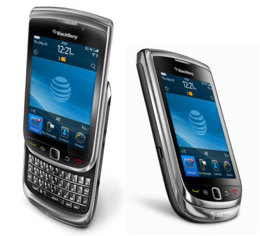 A slide and touch screen version from the BlackBerry stable.