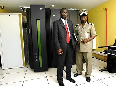 IBM Mainframe at the Senegal Ministry of Finance.