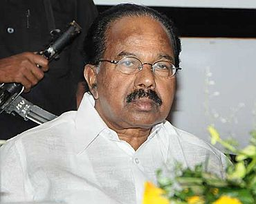 Law Minster M Veerappa Moily.