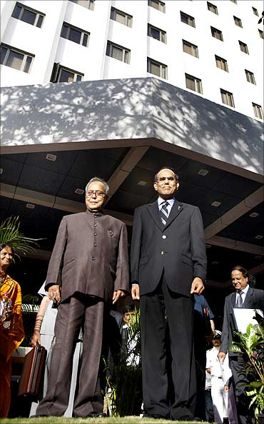 RBI Governor D Subbarao with Finance Minister Pranab Mukherjee.