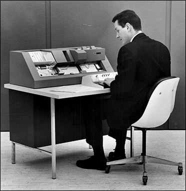 IBM punched cards, a big success.