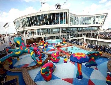 Pool deck .