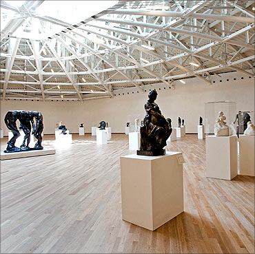 Interior view of the museum.