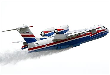 Beriev 202 firefighting airplane.