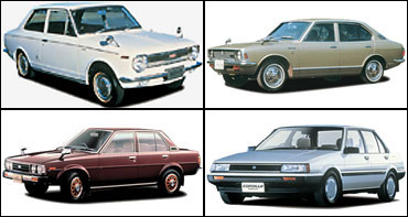 Top L- R: 1966, 1970. Bottom: L - R: 1979, 1983