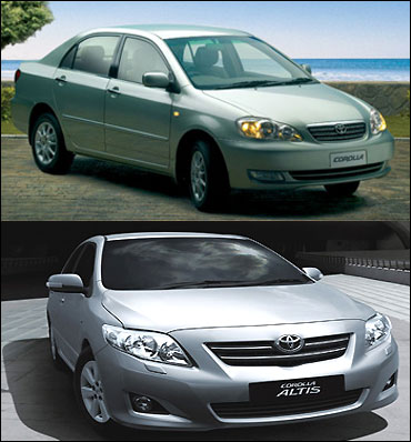Corolla Altis 2003 and 2008.