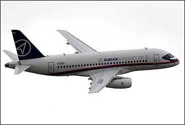 Sukhoi Super Jet 100 jet liner.