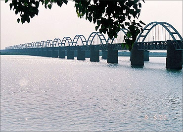 Godavari Rail Bridge.