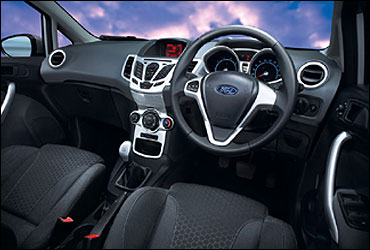 Interior view of the new Ford Fiesta.