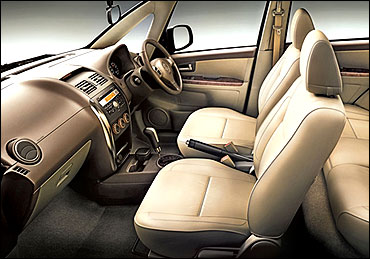 Interior view of SX4.