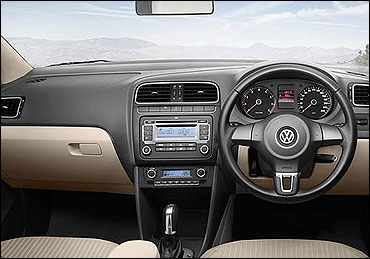 Interior view of Volkswagen Vento Diesel.