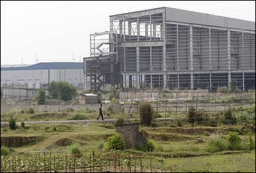 Unfinished Singur factory.