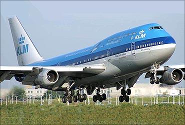 KLM flight.