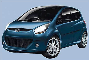 The Hyundai small car look like this.