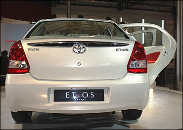 Toyota Etios sedan.