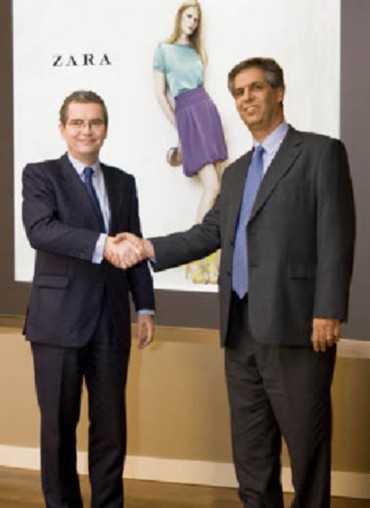Pablo Isla, Inditex's Deputy Chairman and CEO with Noel N. Tata, Managing Director of Trent Limited, a Tata Enterprise