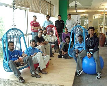 Google employees at the Bengaluru office.