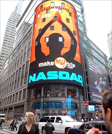 Makemytrip  listed on Nasdaq.