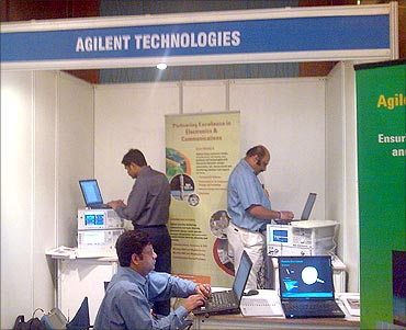 Agilent employees.