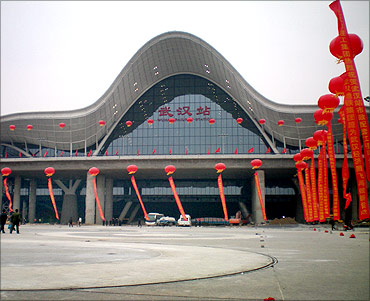 Wuhan Railway Station.