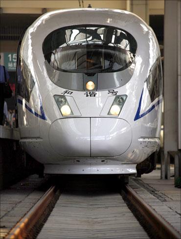 A high-speed train.
