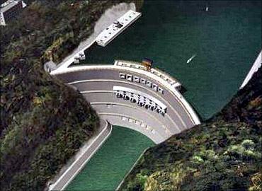 Xiluodu Dam.