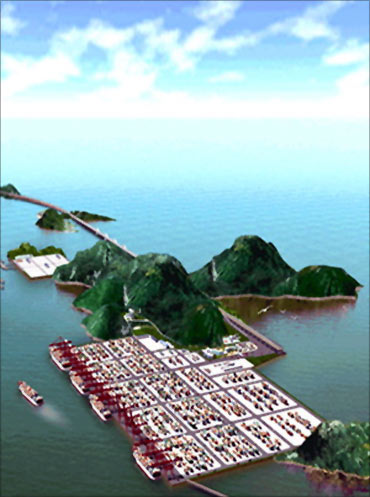 Shanghai Yangshan Deep Water Port.