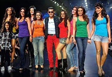 Bollywood stars join Salman Khan to promote Being Human label.