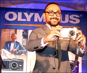 Actor Rahul Bose at the launch of the new camera.