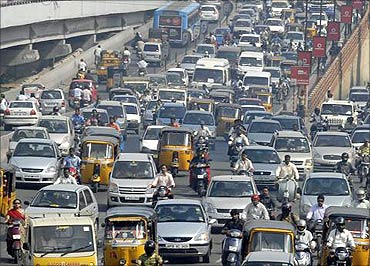 There are 13 million vehicles in India