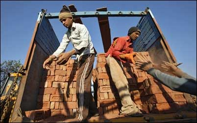 Brick factory workers.