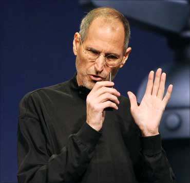 Apple Inc CEO Steve Jobs speaks at the conclusion of the launch of the iPad2.