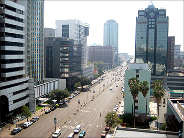 The city of Harare.