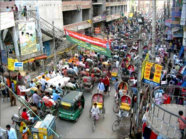 The city of Dhaka.