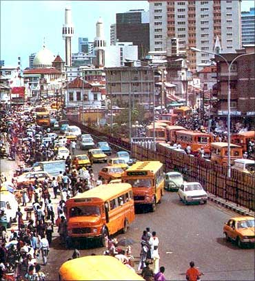 The city of Lagos.