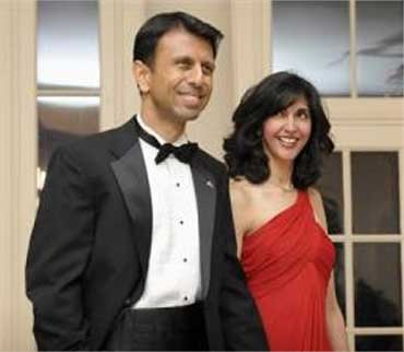 Bobby and Supriya Jindal.