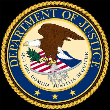 US Justice Department seal.