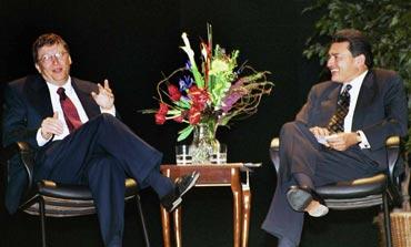 Microsoft czar Bill Gates with Gupta.