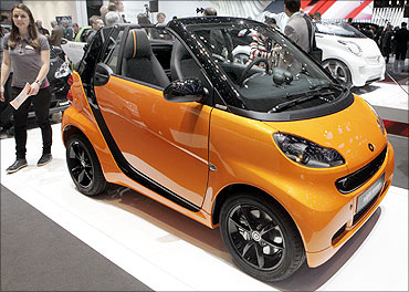 Fortwo convertible car.