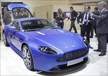 Aston Martin V8 Vantage S car.