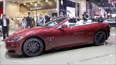 Maserati GranCabrio Sport convertible car.