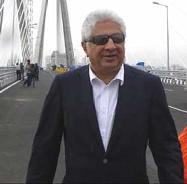 Ajit Gulabchand on the sea link.