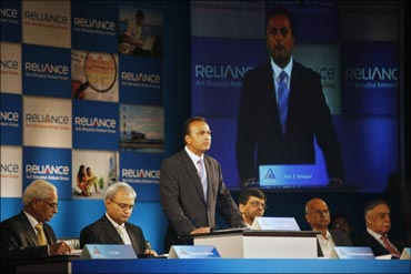 Anil Ambani at the AGM of Reliance Capital.