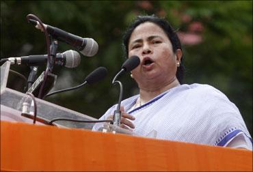 Railway Minister Mamata Banerjee.