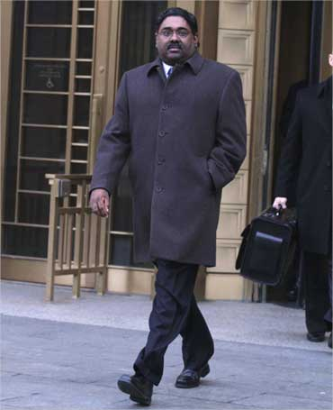 Rajaratnam coming out of the court.