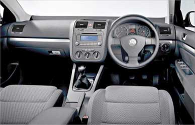 The dashboard of Volkswagen Passat.