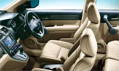 Interior view of Honda CRV.