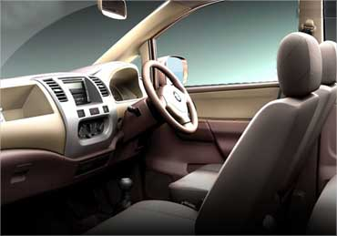 Interior view of Maruti Zen Estillo.