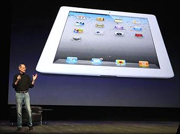 Steve Jobs at the launch of Apple iPad2.
