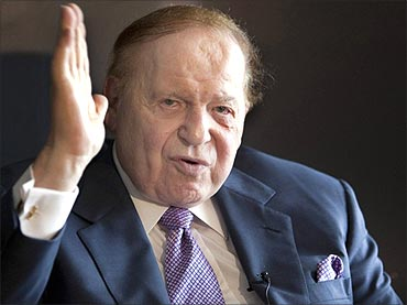Adelson is a taxi driver's son
